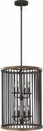 Feiss F3117-8WRI-TWO Locke Weathered Rusted Iron / Textured Weathered Oak Foyer Lighting