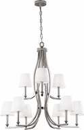 Feiss F3118-9PN Pave Polished Nickel Chandelier Light