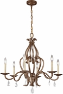 Feiss F3123-6VM Celise Venetian Mist Lighting Chandelier
