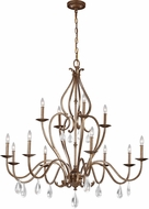 Feiss F3124-12VM Celise Venetian Mist Chandelier Lamp