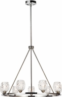 Feiss F3128-9PN Rubin Modern Polished Nickel Lighting Chandelier