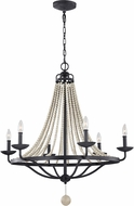 Feiss F3129-6DWZ-DWG Nori Dark Weathered Zinc / Driftwood Grey Chandelier Lamp