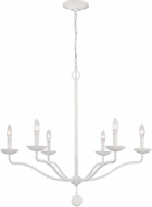 Feiss F3130-6PSW Annie Plaster White Chandelier Light