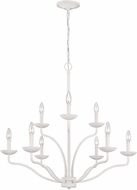Feiss F3131-9PSW Annie Plaster White Ceiling Chandelier