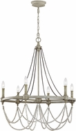 Feiss F3132-6FWO-DWW Beverly French Washed Oak / Distressed White Wood Hanging Chandelier