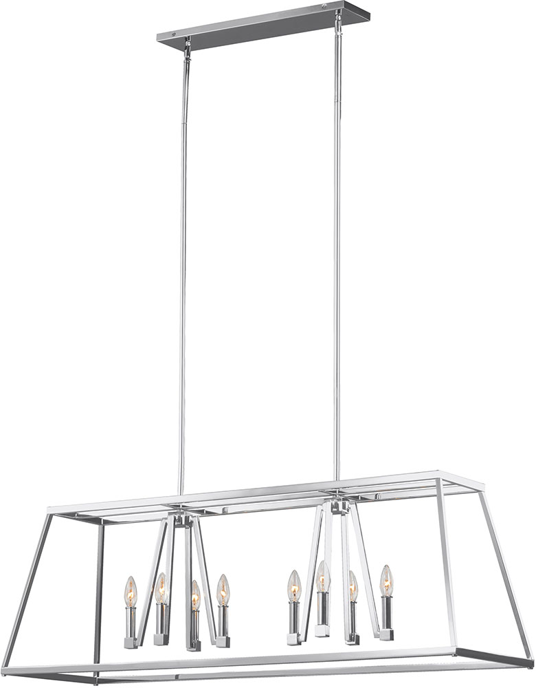 Feiss F3152-8CH Conant Chrome Kitchen Island Light Fixture. Loading zoom  sc 1 st  Affordable L&s & Feiss F3152-8CH Conant Chrome Kitchen Island Light Fixture - MF ...