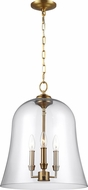 Feiss F3154-3BBS Lawler Burnished Brass Foyer Lighting