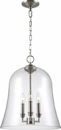 Feiss F3154-3SN Lawler Satin Nickel Foyer Light Fixture