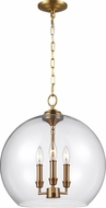Feiss F3155-3BBS Lawler Burnished Brass Foyer Lighting Fixture
