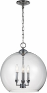 Feiss F3155-3CH Lawler Chrome Foyer Lighting