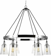 Feiss F3170-6CH Loras Contemporary Chrome Chandelier Lamp