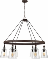 Feiss F3170-6DWI Loras Modern Dark Weathered Iron Lighting Chandelier