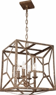 Feiss F3171-4DSGL Marquelle Contemporary Distressed Goldleaf Foyer Lighting Fixture