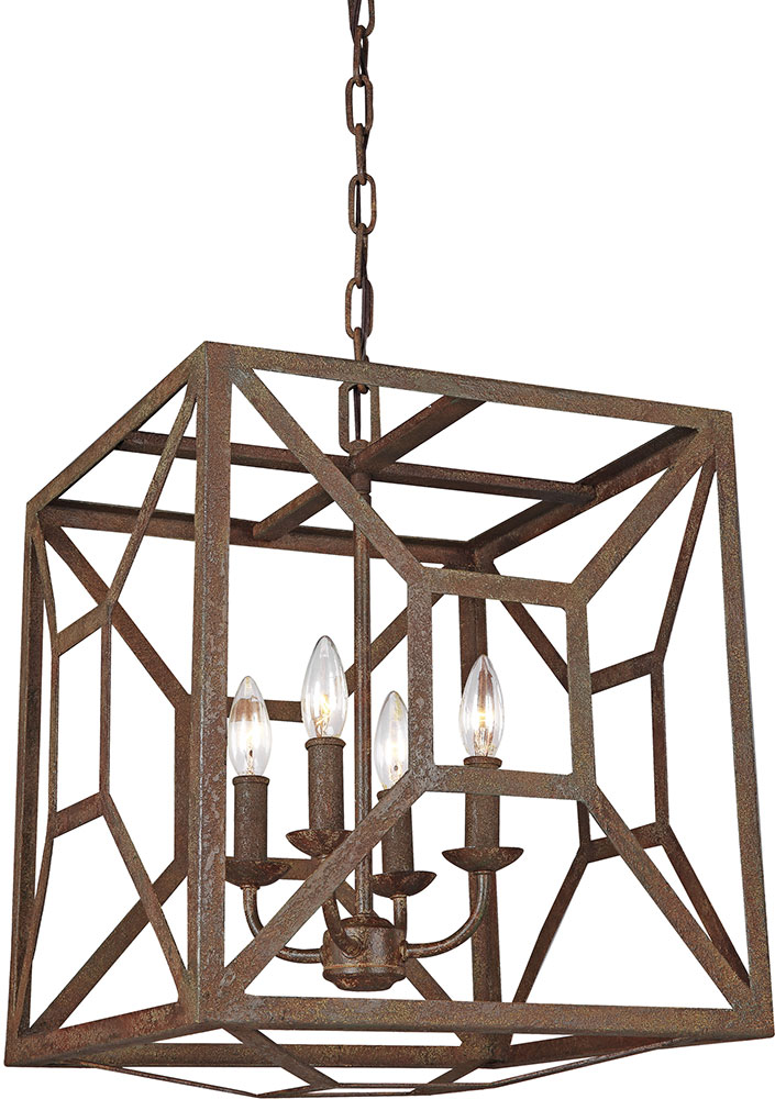 Modern Foyer Fixtures : Feiss f wi marquelle modern weathered iron entryway