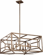 Feiss F3172-6DSGL Marquelle Contemporary Distressed Goldleaf Chandelier Lamp