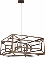 Feiss F3172-6WI Marquelle Modern Weathered Iron Chandelier Light