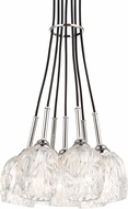 Feiss F3185-7PN Rubin Contemporary Polished Nickel Mini Hanging Chandelier