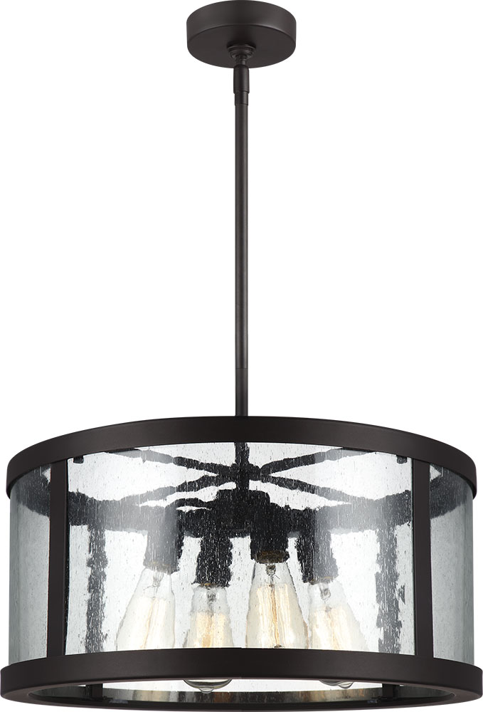 Feiss F3199-4ORB Harrow Oil Rubbed Bronze Drum Pendant Lighting. Loading zoom  sc 1 st  Affordable L&s & Feiss F3199-4ORB Harrow Oil Rubbed Bronze Drum Pendant Lighting ... azcodes.com