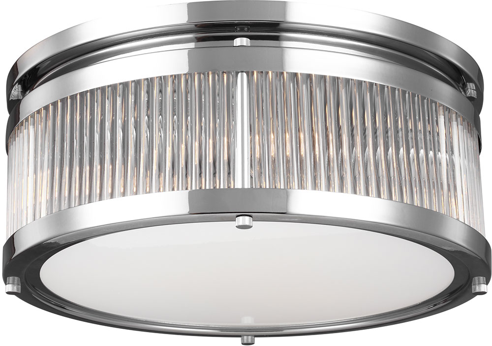 Feiss FM512CH Paulson Modern Chrome Flush Mount Lighting Fixture. Loading  Zoom
