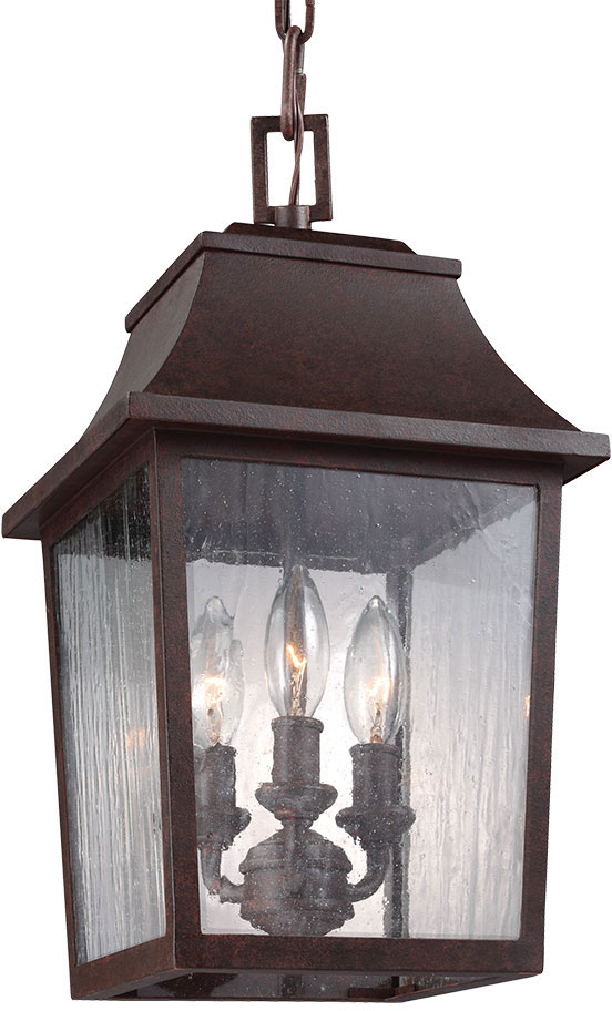 Feiss OL11907PCR Estes Old World Patina Copper Outdoor Pendant Light Fixture.  Loading Zoom