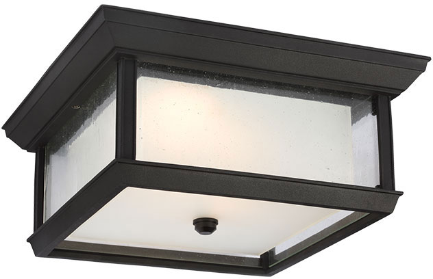 Feiss OL12813TXB-LED McHenry Textured Black LED Exterior Flush Mount ...