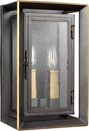 Feiss OL13801ANBZ-PBB Urbandale Antique Bronze / Painted Burnished Brass Exterior Lighting Wall Sconce