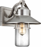 Feiss OL13901PBS Boynton Painted Brushed Steel Outdoor Wall Light Sconce