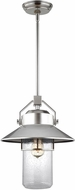 Feiss OL13912PBS Boynton Painted Brushed Steel Outdoor Ceiling Light Pendant