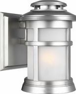 Feiss OL14300PBS Newport Painted Brushed Steel Outdoor 6.25  Wall Sconce