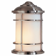 Feiss OL2203BS Lighthouse Nautical Brushed Steel Outdoor Wall Lighting