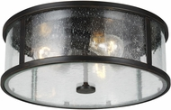 Feiss OL7633ES Dakota Contemporary Espresso Exterior Flush Mount Lighting