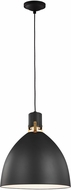 Feiss P1443MB-LED Brynne Modern Matte Black LED Pendant Light Fixture