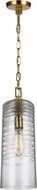 Feiss P1446BBS Elmore Contemporary Burnished Brass Mini Hanging Pendant Light
