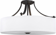 Feiss SF254ORB Sunset Drive Oil Rubbed Bronze 22  Flush Mount Lighting Fixture