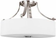 Feiss SF258BS Sunset Drive Brushed Steel 16  Flush Ceiling Light Fixture