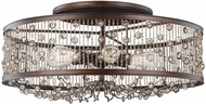 Feiss SF331CSTB Colorado Springs Chestnut Bronze Flush Mount Ceiling Light Fixture