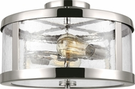 Feiss SF341PN Harrow Modern Polished Nickel 15  Ceiling Light Fixture