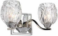 Feiss VS22702CH Kalli Chrome Fluorescent 2-Light Bathroom Light Fixture