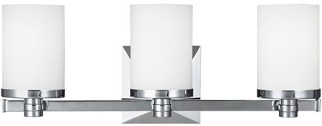 Bathroom Lighting Sconces Chrome feiss vs22903ch randolf chrome 3-light bathroom light sconce - mf