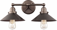 Feiss VS23402ANBZ Hooper Vintage Antique Bronze 2-Light Bathroom Lighting