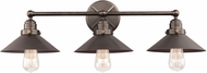 Feiss VS23403ANBZ Hooper Vintage Antique Bronze 3-Light Bath Lighting