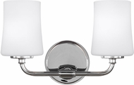 Feiss VS23602CH Jennie Chrome 2-Light Bathroom Lighting Fixture