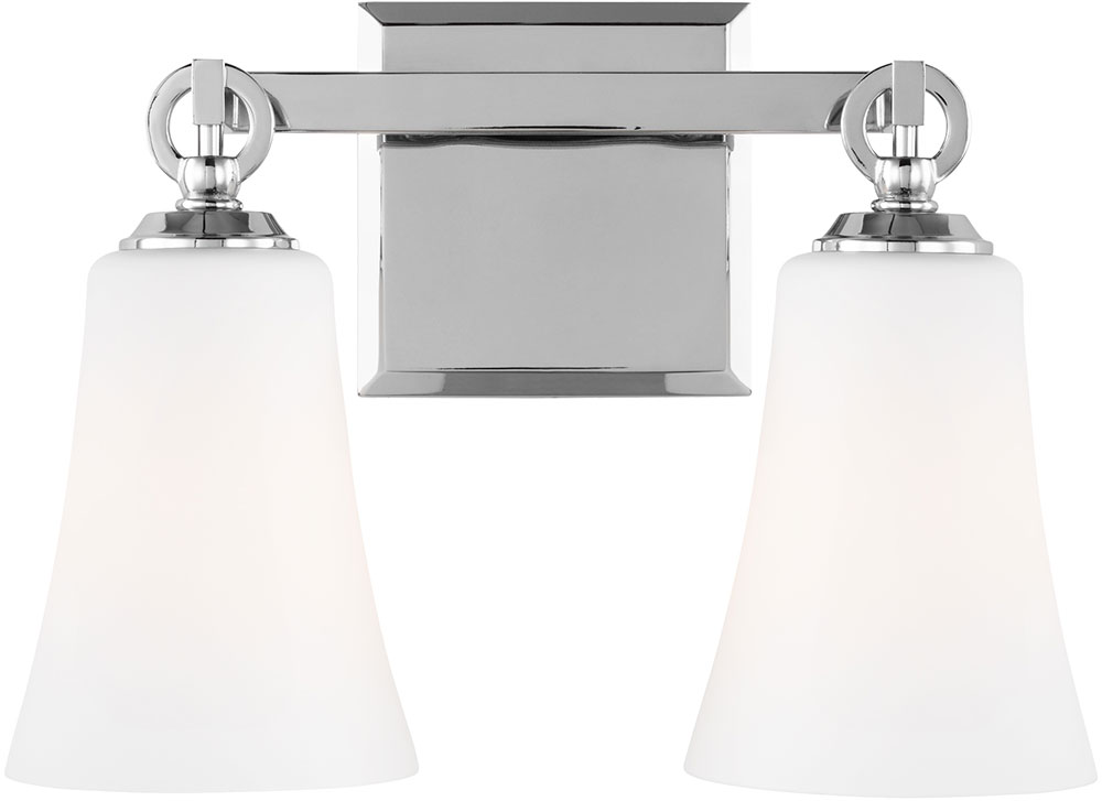 Feiss VS23702CH Monterro Chrome 2-Light Bath Light Fixture - MF ...