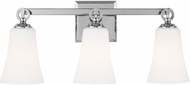 Feiss VS23703CH Monterro Chrome 3-Light Bath Lighting Fixture