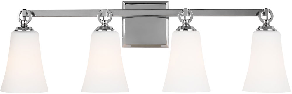 Chrome Bathroom Light feiss vs23704ch monterro chrome 4-light bathroom light fixture