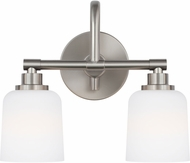 Feiss VS23902SN Reiser Satin Nickel 2-Light Bathroom Vanity Light