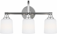 Feiss VS23903CH Reiser Chrome 3-Light Bathroom Sconce