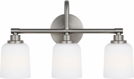 Feiss VS23903SN Reiser Satin Nickel 3-Light Bath Sconce