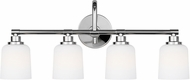 Feiss VS23904CH Reiser Chrome 4-Light Vanity Light Fixture