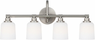 Feiss VS23904SN Reiser Satin Nickel 4-Light Vanity Lighting Fixture